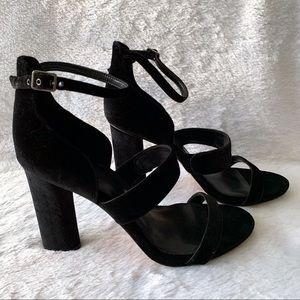 Nwot Vince Camuto Black Velvet Heels